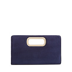 Call It Spring - Blue velvet 'Graedda' clutch bag
