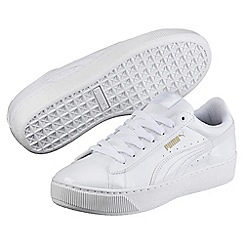 Puma - White vikky platform patent shoes