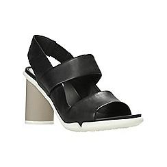 Clarks - Black leather 'imali jasmine' sandals