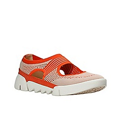 Clarks - Orange 'tri blossom' slip-on