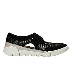 Clarks - Black 'Tri Blossom' women's trainers