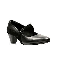 Clarks - Black leather 'Denny Bradford' shoes