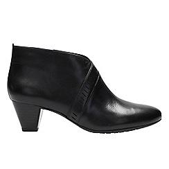Clarks - Black suede 'Denny Frances' shoe boots