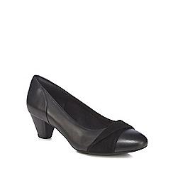 Clarks - Black combi 'Denny Louise' court shoes