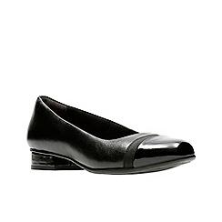 Clarks - Black leather 'Keesha Rosa' pumps