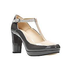Clarks - Grey leather 'Kendra Sienna' court shoes