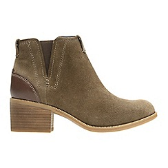 Clarks - Olive 'maypearl daisy' ankle boots