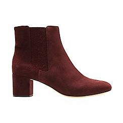 Clarks - Burgundy suede' ORABELLA ANNA' chelsea boots