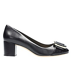 Clarks - Black leather 'orabella fern' t-bar shoes