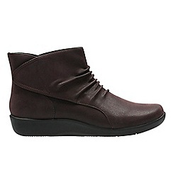 Clarks - Aubergine 'sillian sway' ankle boots