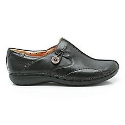 Clarks - Black leather 'UN LOOP' slip-on shoes