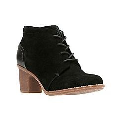Clarks - Black 'Sashlin Sue' ankle boots