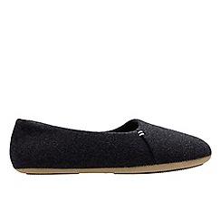 Clarks - Dark grey 'Cozily snug' women's slippers