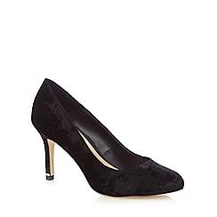 Call It Spring - Black velvet 'Tukums' high stiletto heel court shoes