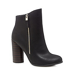 Call It Spring - Black 'Azizi' high block heel ankle boots