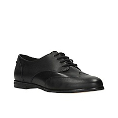 Clarks - Black leather 'andora trick' lace up