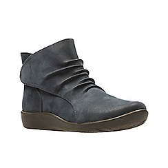 Clarks - Navy 'Sillian Sway' Ankle Boots