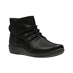 Clarks - Black 'Sillian Sway' Ankle Boots