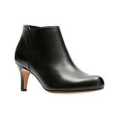 Clarks - Black leather 'arista paige' shoe boots