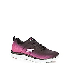 Skechers - Black and pink 'Flex Appeal 2.0 Bright Side' trainers