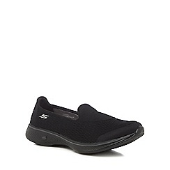 Skechers - Black 'Go Walk 4 Pursuit' slip on trainers