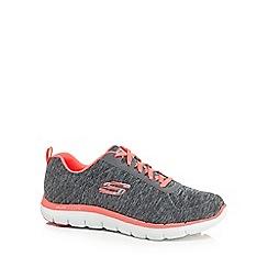 Skechers - Grey 'Flex Appeal 2.0' wide fit trainers