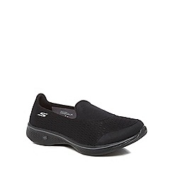 Skechers - Black 'go walk 4' slip-on trainers