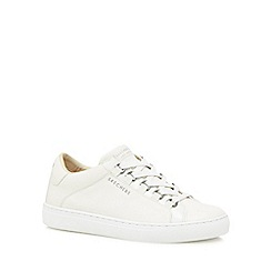 Skechers - White leather 'Side Street' trainers
