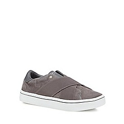 Skechers - Grey suede 'Hi-Lite' slip-on trainers