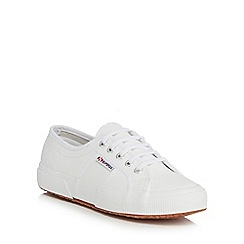 Superga - White leather 'Efglu' trainers