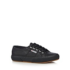 Superga - Black 'Lamew' lace up trainers