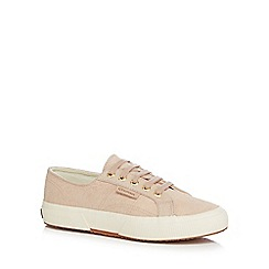 Superga - Natural leather trainers