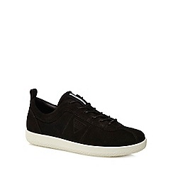 ECCO - Black suede 'Soft 1' trainers