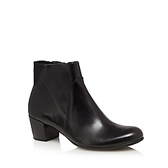 ECCO - Black leather 'Shape M' mid block heel ankle boots