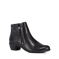 ECCO - Black leather 'Touch 35' mid block heel ankle boots