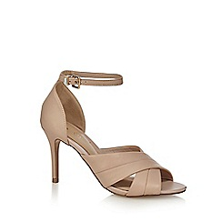 J by Jasper Conran - Pink leather 'Juniper' high stiletto heel ankle strap sandals