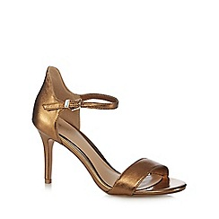 J by Jasper Conran - Gold leather 'Jagger' high stiletto heel ankle strap sandal