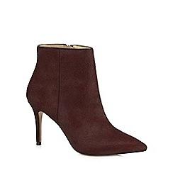 J by Jasper Conran - Dark red leather 'Jordyn' high stiletto heel ankle boots