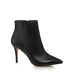 J by Jasper Conran - Black leather 'Jordyn' high stiletto heel ankle boots