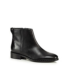 J by Jasper Conran - Black leather 'Judd' block heel ankle boots