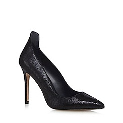 J by Jasper Conran - Navy leather 'Jolene' high stiletto heel court shoes