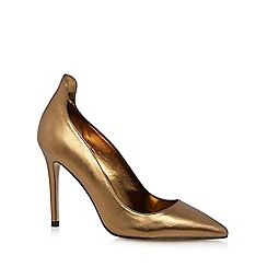 J by Jasper Conran - Bronze leather 'Jolene' high stiletto heel court shoes