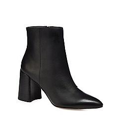 J by Jasper Conran - Black leather 'Juju' high block heel ankle boots