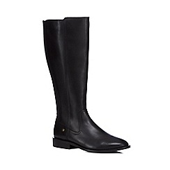 J by Jasper Conran - Black leather 'Jai' knee high riding boots