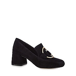 J by Jasper Conran - Black suede 'Jilt' mid block heel loafers