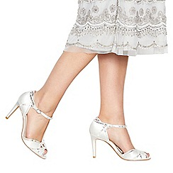 No. 1 Jenny Packham - Ivory 'Pasha' high stiletto heel ankle strap sandals