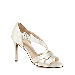 No. 1 Jenny Packham - Ivory glitter 'Pastel' high stiletto heel sandals