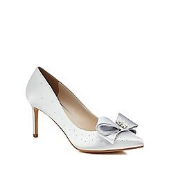 No. 1 Jenny Packham - Silver 'Penelope' mid stiletto heel court shoes