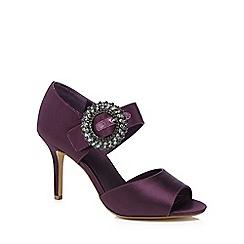 J by Jasper Conran - Dark purple 'Jam' high stiletto heel sandals