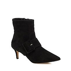 J by Jasper Conran - Black suede 'Justice' mid stiletto heel ankle boots